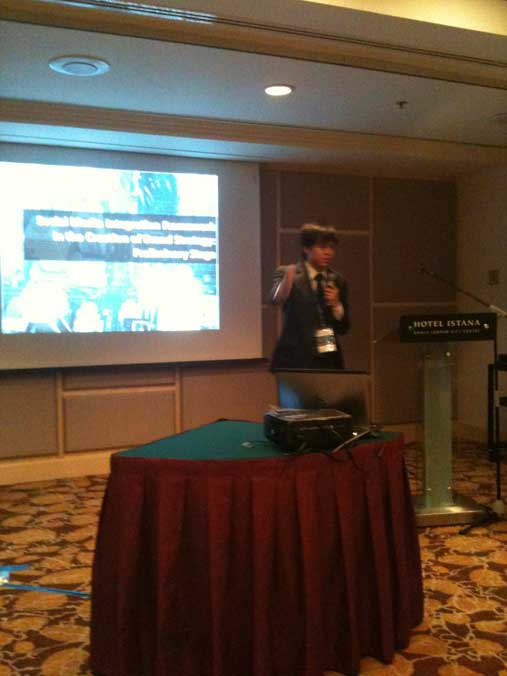 Presenting the social media integration framework at the global communications conference